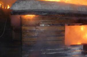 Около десяти человек тушили баню в Смоленске