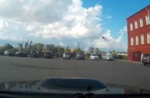 В Смоленске авиахулиган пролетел под мостом над Днепром? Полёт попал на видео