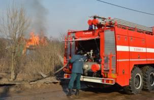В Рославльском районе полыхал строительный мусор