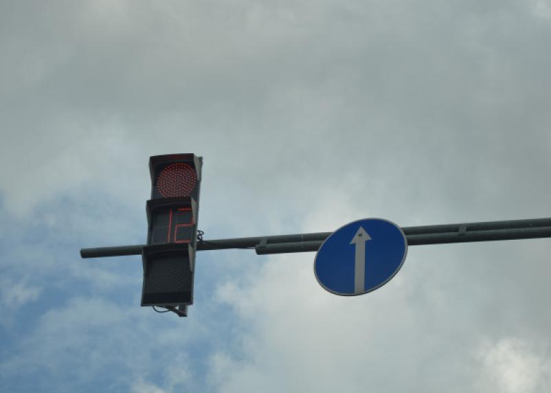 В центре Смоленска загорелась проводка. Светофоры отключены