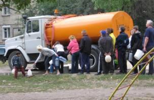 На двух улицах Смоленска отключат холодную воду