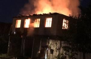 «Сердце не выдержало». Появилось видео трагического пожара в Смоленской области