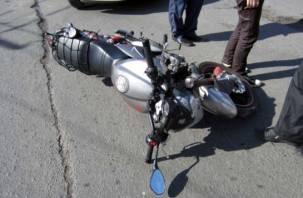 В Смоленской области «УАЗ» сбил мотоциклиста
