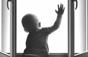 Двухлетний малыш выпал из окна в Смоленской области
