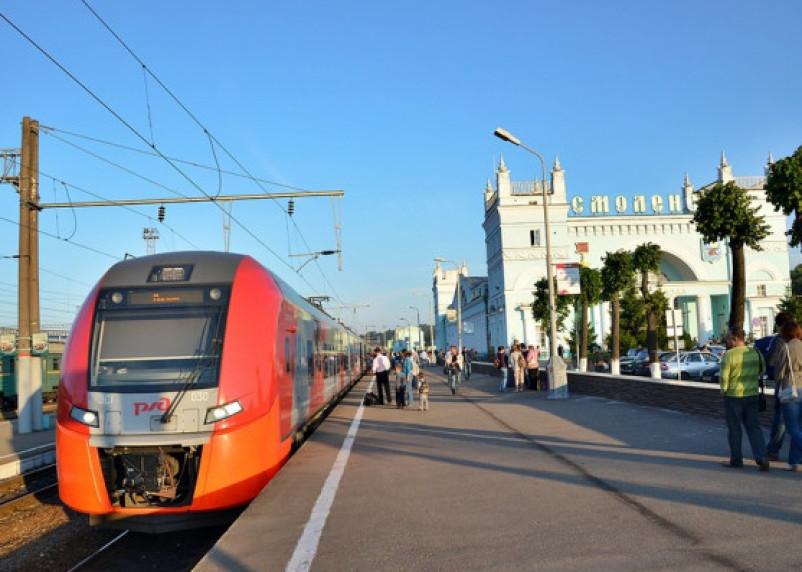 Первая «Ласточка» отправилась из Москвы в Минск. В Смоленске — остановка