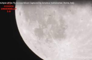 Римский астроном снял на видео скопление НЛО возле Луны
