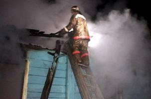 В Смоленской области горел жилой дом