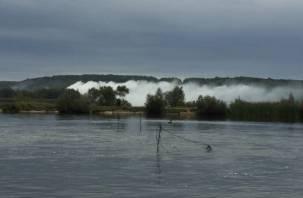 «Рыбаки убегают». В Смоленске на ТЭЦ тушили пожар