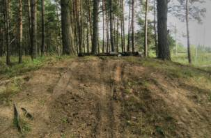 Смоленские мотоциклисты устраивают заезды на могилах
