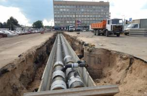 На Колхозной площади в Смоленске закончили «раскопки», вскоре появятся горячая вода