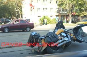 В Смоленске произошла авария с участием мотоциклиста