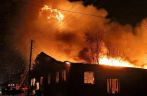 В Демидовском районе в огне погиб мужчина