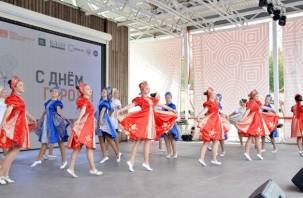 Смоленский ансамбль выступил на Дне города Москвы