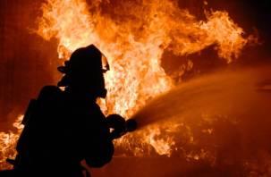 В Смоленском районе сгорела баня