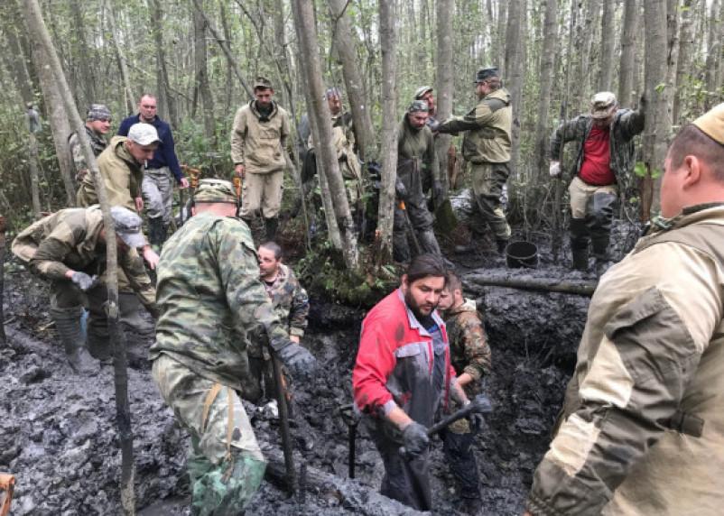 В Вяземском районе в яме нашли 40 погибших бойцов