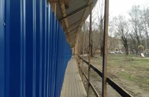 В Смоленске обворовали строящийся объект