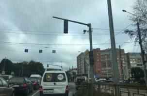 В Смоленске хаос на медгородке. Не работают светофоры