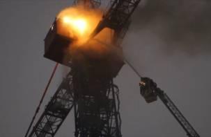 В Смоленской области произошел пожар на стройплощадке