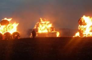 В Смоленской области пожар уничтожил сено