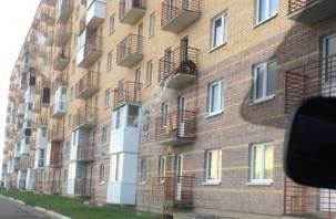 Водопад с балкона в смоленской новостройке попал на видео
