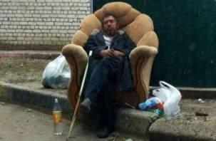 В Смоленске криминальный бомж обокрал супермаркет