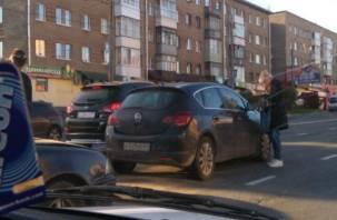 В Смоленске из-за ДТП собирается пробка