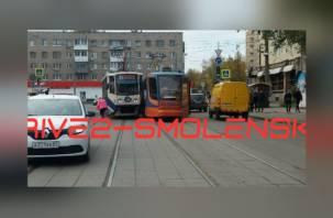 В Смоленске столкнулись два трамвая