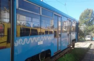 Сегодня в Смоленск привезли ещё два московских трамвая, в них установят видеокамеры