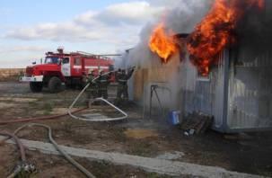Стала известна причина пожара, в котором обгорел смолянин
