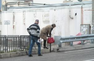Все под мост. Открытый в Смоленске Беляевский путепровод опасен для пешеходов