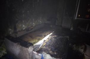 В Смоленской области человек едва не погиб в горящей квартире