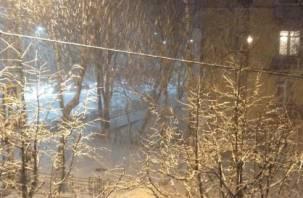 В Гагарине выпал снег?