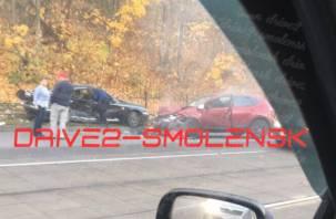 В Смоленске произошло жёсткое ДТП. Оба водителя госпитализированы