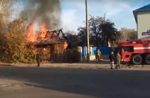 Пожар в Ярцеве попал на видео