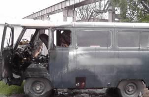 В Смоленске загорелась «буханка»