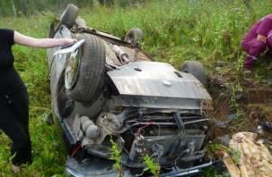 В Смоленской области водитель погиб в перевернувшейся машине