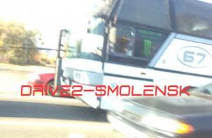 «Пункт назначения»: в Смоленске лобовое стекло автобуса проткнул металлический штырь