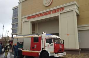 В Смоленске эвакуировали перинатальный центр