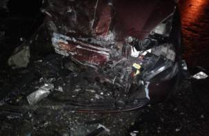 В Ярцеве водитель ВАЗа врезался в столб, бросил раненую пассажирку и сбежал