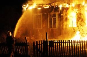 Ночью в смоленской деревне произошел крупный пожар