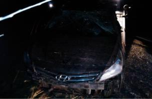 В Смоленской области иномарка улетела в кювет. Есть пострадавший