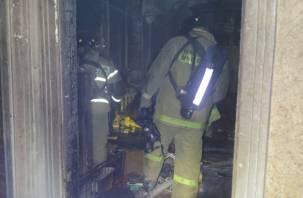 В Рославле в горящем доме погибли мужчина и женщина