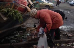 Смоленские пенсионеры вынуждены питаться на помойках