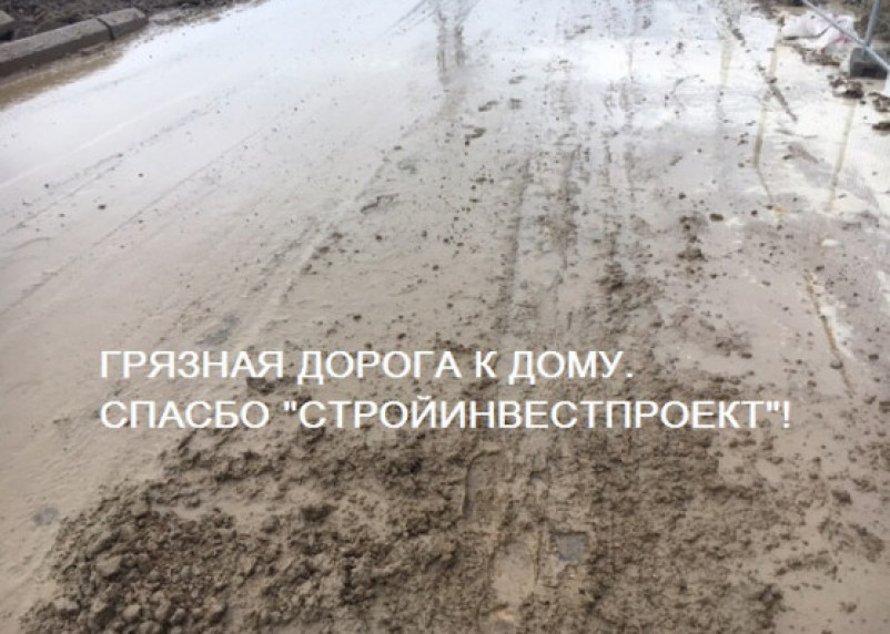 Смоленский застройщик устроил для новоселов испытание грязью