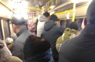 В Смоленске наблюдается транспортный коллапс вЗаднепровье