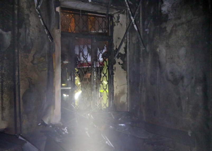 В Рославле при пожаре погиб человек