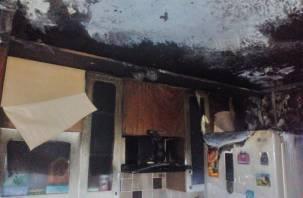 Утром в смоленской многоэтажке произошло «огненное шоу» на кухне