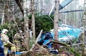 Погиб член экипажа. Появилось фото с места крушения вертолёта Ми-8, вылетевшего из Смоленской области