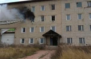 В Ярцеве полыхало офисное здание