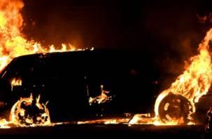 В Новодугинском районе сгорела «Нива»